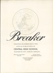Page 5, 1962 Edition, Central High School - Breaker Yearbook (Elizabeth City, NC) online yearbook collection