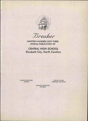 Page 7, 1963 Edition, Central High School - Breaker Yearbook (Elizabeth City, NC) online yearbook collection