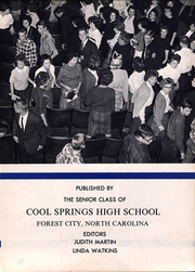 Page 7, 1962 Edition, Cool Springs High School - Forester Yearbook (Forest City, NC) online yearbook collection