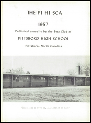 Page 5, 1957 Edition, Pittsboro High School - Pi Hi Sca Yearbook (Pittsboro, NC) online yearbook collection