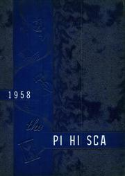 1958 Edition, Pittsboro High School - Pi Hi Sca Yearbook (Pittsboro, NC)