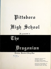 Page 7, 1962 Edition, Pittsboro High School - Pi Hi Sca Yearbook (Pittsboro, NC) online yearbook collection