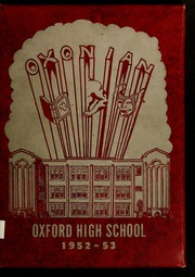 Page 1, 1953 Edition, Oxford High School - Oxonian Yearbook (Oxford, NC) online yearbook collection