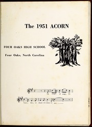 Page 5, 1951 Edition, Four Oaks High School - Acorn Yearbook (Four Oaks, NC) online yearbook collection
