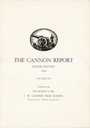 Page 5, 1946 Edition, Cannon High School - Cannon Report Yearbook (Kannapolis, NC) online yearbook collection