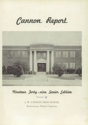 Page 5, 1949 Edition, Cannon High School - Cannon Report Yearbook (Kannapolis, NC) online yearbook collection
