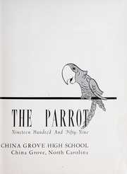 Page 7, 1959 Edition, China Grove High School - Parrot Yearbook (China Grove, NC) online yearbook collection