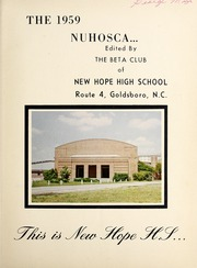 Page 5, 1959 Edition, New Hope High School - Nuhosca Yearbook (Goldsboro, NC) online yearbook collection