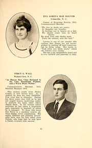 Page 13, 1916 Edition, Wingate School - X Ray Yearbook (Wingate, NC) online yearbook collection