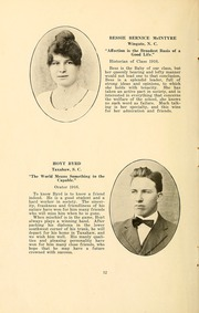 Page 14, 1916 Edition, Wingate School - X Ray Yearbook (Wingate, NC) online yearbook collection