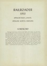 Page 5, 1953 Edition, Spencer High School - Railroader Yearbook (Spencer, NC) online yearbook collection
