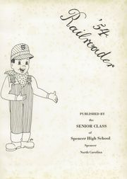 Page 5, 1954 Edition, Spencer High School - Railroader Yearbook (Spencer, NC) online yearbook collection