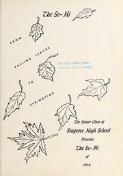 Page 7, 1954 Edition, Seagrove High School - Se Hi Yearbook (Seagrove, NC) online yearbook collection