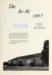 Page 5, 1957 Edition, Seagrove High School - Se Hi Yearbook (Seagrove, NC) online yearbook collection