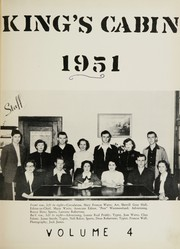 Page 5, 1951 Edition, King High School - Cabin Yearbook (King, NC) online yearbook collection