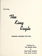 Page 5, 1955 Edition, King High School - Cabin Yearbook (King, NC) online yearbook collection