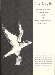 Page 5, 1962 Edition, King High School - Cabin Yearbook (King, NC) online yearbook collection