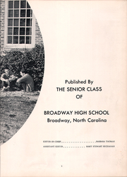 Page 7, 1963 Edition, Broadway High School - Seniorogue Yearbook (Broadway, NC) online yearbook collection