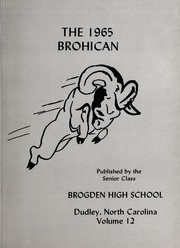 Page 5, 1965 Edition, Brogden High School - Brohican Yearbook (Dudley, NC) online yearbook collection