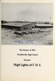 Page 7, 1954 Edition, Franklinville High School - Cardinal Yearbook (Franklinville, NC) online yearbook collection