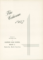 Page 5, 1957 Edition, Coopers High School - Cohisan Yearbook (Nashville, NC) online yearbook collection