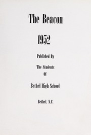 Page 7, 1952 Edition, Bethel High School - Key Yearbook (Bethel, NC) online yearbook collection