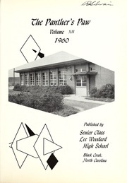 Page 5, 1960 Edition, Lee Woodard High School - Panthers Paw Yearbook (Black Creek, NC) online yearbook collection