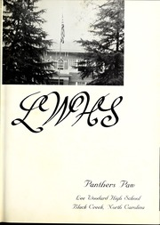 Page 5, 1963 Edition, Lee Woodard High School - Panthers Paw Yearbook (Black Creek, NC) online yearbook collection