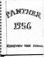 1956 Edition, Ridgeview High School - Panther Yearbook (Hickory, NC)