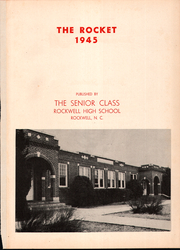 Page 5, 1945 Edition, Rockwell High School - Rocket Yearbook (Rockwell, NC) online yearbook collection