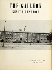 Page 5, 1950 Edition, Kenly High School - Galleon Yearbook (Kenly, NC) online yearbook collection
