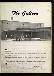 Page 5, 1956 Edition, Kenly High School - Galleon Yearbook (Kenly, NC) online yearbook collection
