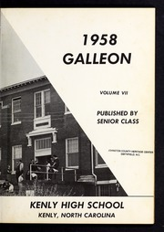 Page 5, 1958 Edition, Kenly High School - Galleon Yearbook (Kenly, NC) online yearbook collection