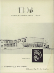 Page 7, 1958 Edition, McLeansville High School - Oak Yearbook (McLeansville, NC) online yearbook collection