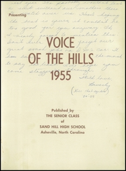 Page 5, 1955 Edition, Sand Hill High School - Voice of the Hills Yearbook (Asheville, NC) online yearbook collection