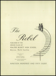 Page 6, 1958 Edition, Bickett High School - Rebel Yearbook (Monroe, NC) online yearbook collection