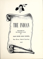 Page 5, 1957 Edition, Haw River High School - Indian Yearbook (Haw River, NC) online yearbook collection