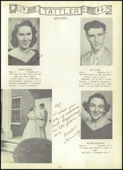 Page 15, 1953 Edition, Cool Spring High School - Tattler Yearbook (Cleveland, NC) online yearbook collection