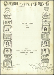 Page 5, 1953 Edition, Cool Spring High School - Tattler Yearbook (Cleveland, NC) online yearbook collection