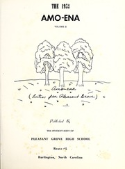 Page 5, 1953 Edition, Pleasant Grove High School - Amo Ena Yearbook (Burlington, NC) online yearbook collection