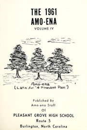 Page 5, 1961 Edition, Pleasant Grove High School - Amo Ena Yearbook (Burlington, NC) online yearbook collection