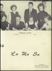 Page 7, 1956 Edition, Lewisville High School - La Ha Sa Yearbook (Lewisville, NC) online yearbook collection