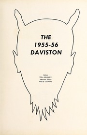 Page 5, 1956 Edition, Davis Townsend High School - Daviston Yearbook (Lexington, NC) online yearbook collection