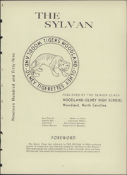 Page 7, 1959 Edition, Woodland Olney High School - Sylvan Yearbook (Woodland, NC) online yearbook collection