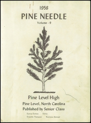 Page 5, 1958 Edition, Pine Level High School - Pine Needle Yearbook (Pine Level, NC) online yearbook collection