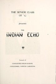 Page 5, 1942 Edition, Cooleemee High School - Indian Echo Yearbook (Cooleemee, NC) online yearbook collection