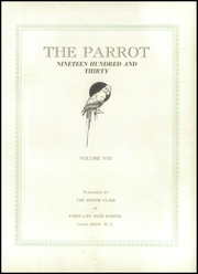 Page 5, 1930 Edition, Farm Life High School - Parrot Yearbook (China Grove, NC) online yearbook collection