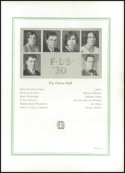 Page 9, 1930 Edition, Farm Life High School - Parrot Yearbook (China Grove, NC) online yearbook collection