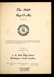 Page 5, 1948 Edition, E M Holt High School - Reg O Ala Yearbook (Burlington, NC) online yearbook collection