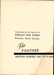 Page 8, 1959 Edition, Pinnacle High School - Panther Yearbook (Pinnacle, NC) online yearbook collection